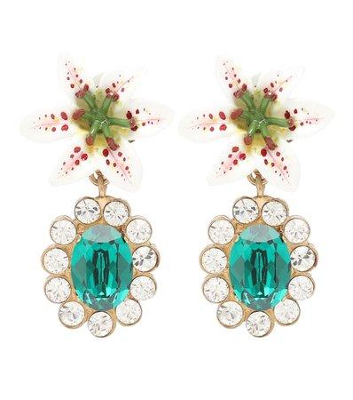 Embellished Floral Clip-On Earrings - Dolce & Gabbana | Mytheresa