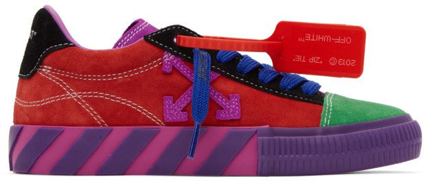 Multicolor Arrows Low Vulcanized Sneakers