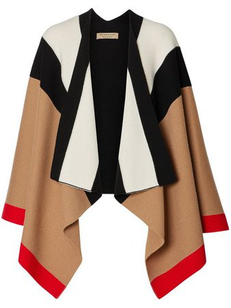 Burberry Striped Cape - Farfetch
