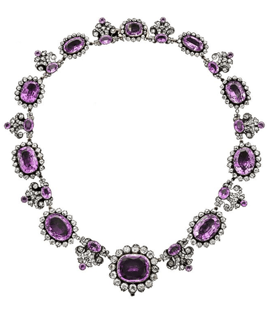 Purple topaz necklace