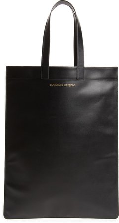 Line B Logo Leather Tote