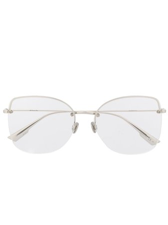 Dior Eyewear Oversized Glasses - Farfetch