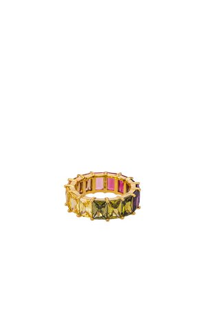 The M Jewelers NY The Rainbow Ring in Gold   REVOLVE