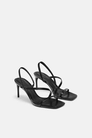 STRAPPY SANDALS-Heeled Sandals-SHOES-WOMAN | ZARA United States
