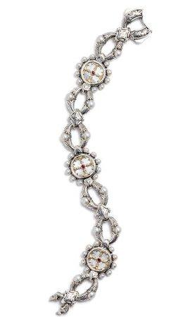 Konstantino Silver Mother-of-Pearl & Ruby Bracelet | Nordstrom