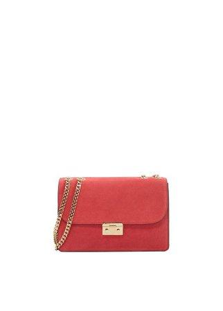 MANGO Chain leather bag