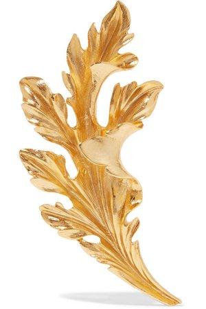 Oscar de la Renta | Gold-tone brooch | NET-A-PORTER.COM
