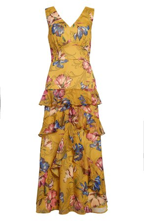 Chelsea28 Floral Tiered Maxi Dress | Yellow