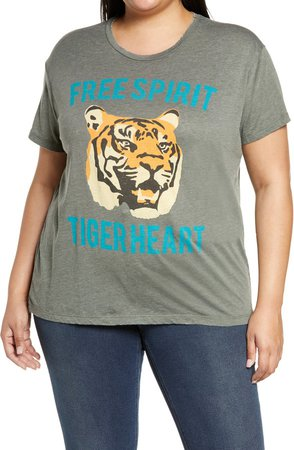 Tiger Heart Graphic Tee