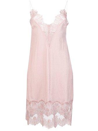 Stella McCartney Slip Dress Com Renda - Farfetch