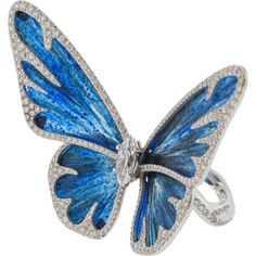 Arunashi Butterfly Rock Basalt Diamond Ring