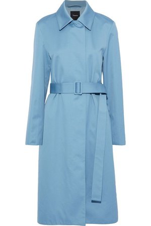 Sky blue cotton-will trench coat