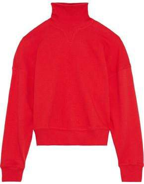 French Cotton-terry Turtleneck Sweatshirt
