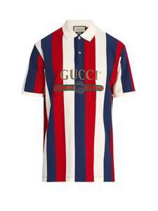 Gucci Baiadera Stripe Polo Shirt – OriginsNYC