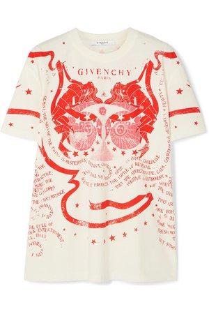 Givenchy | T-shirt en jersey de coton imprimé Gemini | NET-A-PORTER.COM
