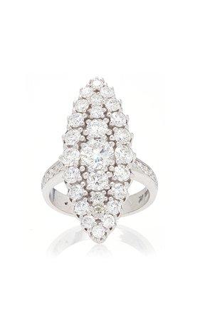 Colette Jewelry White Diamond Chevalier Ring