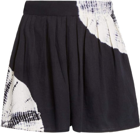 Anaak Annex Tie-Dye Pleated Sateen Shorts