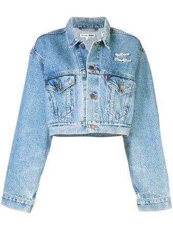 Re/Done Cropped Denim Jacket - Farfetch
