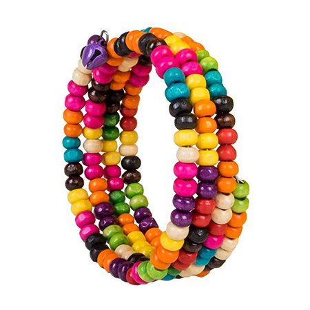 Amazon.com: Colorful Wooden Bead Coil Spring Multi Layer Bracelet Fashion Jewelry With Bells: Jewelry