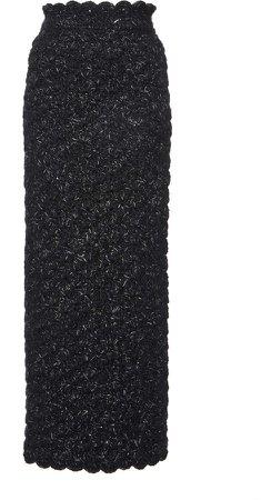 Dolce & Gabbana Scalloped Knit Skirt