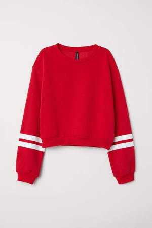 Short Sweatshirt - Red