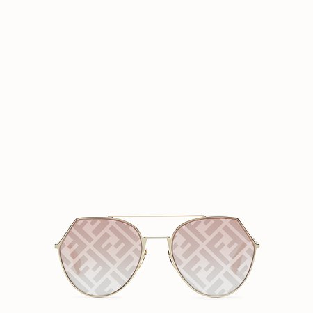 Gold-colored sunglasses - EYELINE | Fendi