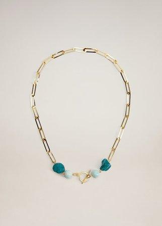 Bead chain necklace - Women | Mango USA gold