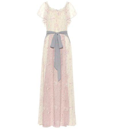 Evelyn floral silk maxi dress