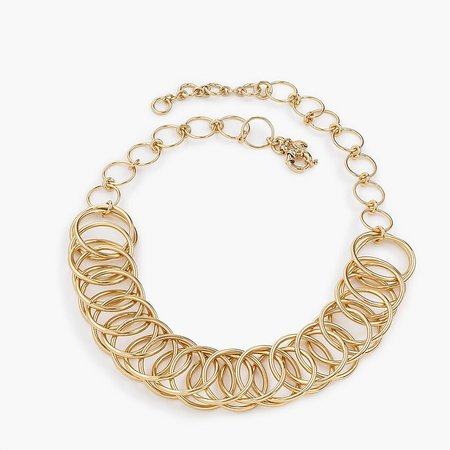 J.Crew: Interlocking Circle Chain Necklace