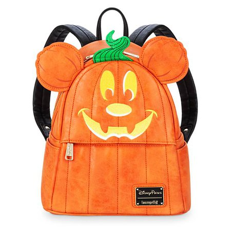 Mickey Mouse Pumpkin Mini Backpack by Loungefly