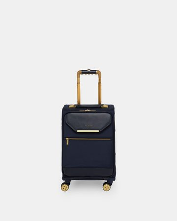 Metallic trim small suitcase - Navy | Bags | Ted Baker UK