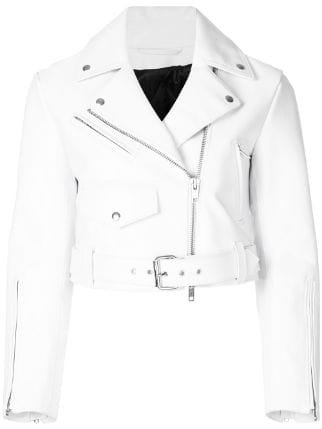 Calvin Klein 205W39nyc cropped biker jacket SS18 - Farfetch Australia