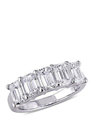 Belk & Co. 2.5 ct. t.w. Emerald Cut Diamond Semi Eternity Band in 14k White Gold