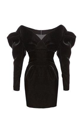 Alexandre Vauthier Off-The-Shoulder Velvet Mini Dress