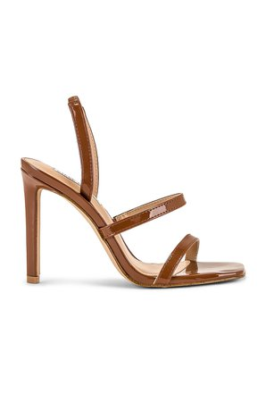 Steve Madden Gracey Heel Sandal in Cognac Patent | REVOLVE