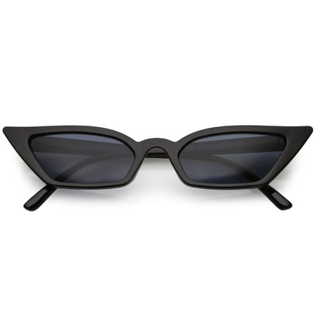 Women's 90's Thin Retro Pointed Cat Eye Sunglasses - zeroUV