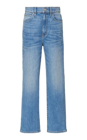 SLVRLAKE London Cropped High-Rise Straight-Leg Jeans Size: 26