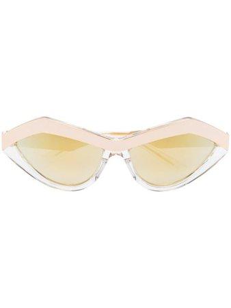 Bottega Veneta Eyewear Angular cat-eye Frame Sunglasses - Farfetch