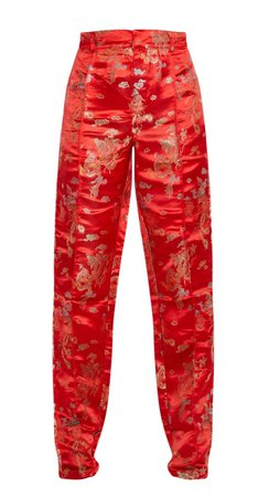 Red oriental trousers