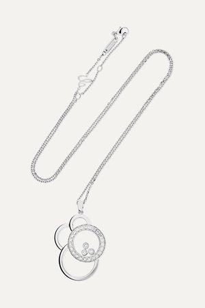 White gold Happy Dreams 18-karat white gold diamond necklace | Chopard | NET-A-PORTER