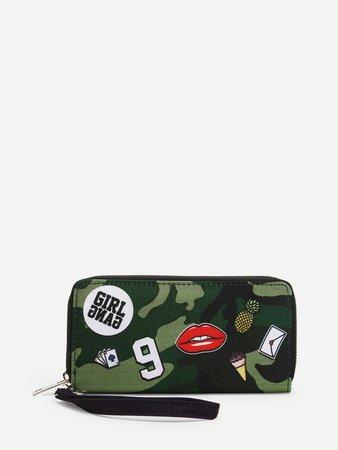 Graffiti Pattern Clutch Bag
