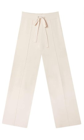 cream Straight fit knit trousers - Women's Just in | Stradivarius United States