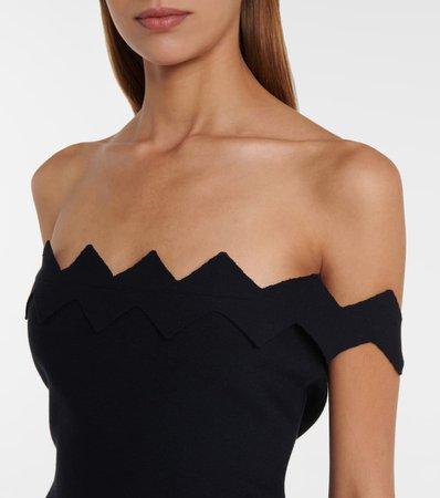 Oscar de la Renta - Off-shoulder midi dress look1