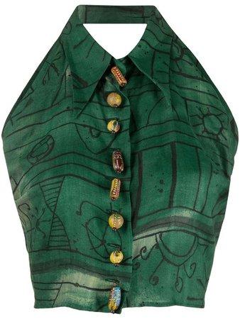 green vest top