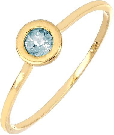 Iris Aquamarine Bezel Stacking Ring