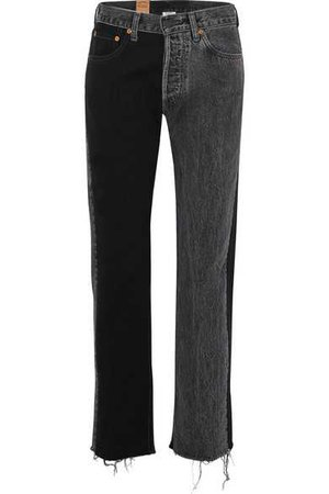 Vetements | + Levi's mid-rise straight-leg jeans | NET-A-PORTER.COM