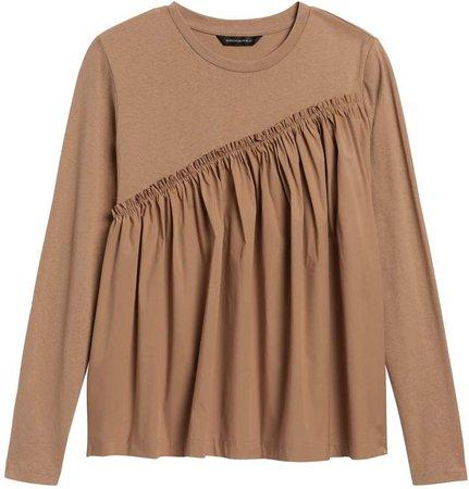 JAPAN EXCLUSIVE Poplin Ruffle T-Shirt