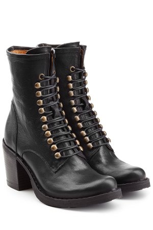 Leather Lace-Up Boots Gr. IT 39