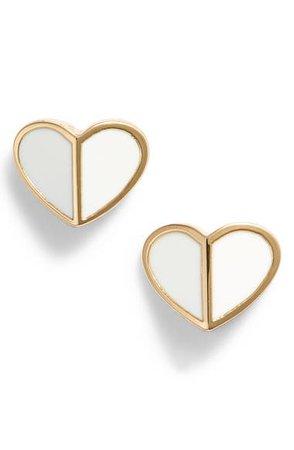 kate spade new york heart stud earrings   Nordstrom