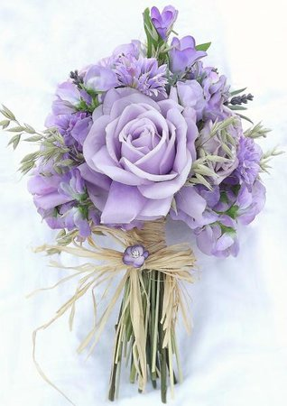Lilac Wedding Flowers Pictures: Rustic ivory lilac artificial wedding bouquet. Best ideas about lilac wedding on purple. .